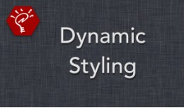 (2.x/3.x) Dynamic Styling