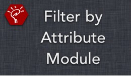 (2.x/3.x) Filter by Attribute Module