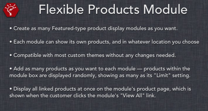 [OLD] Flexible Products Module