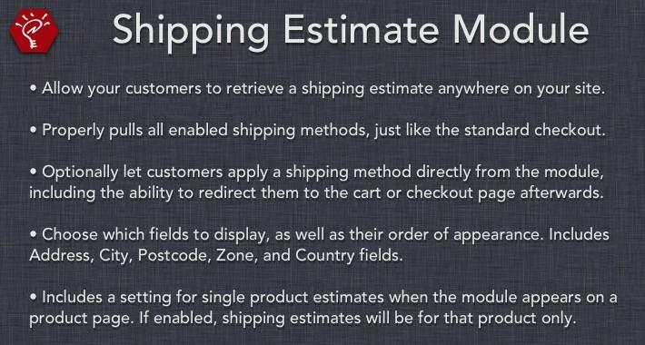 (2.x/3.x) Shipping Estimate Module