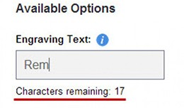 OPTIONS level Characters Limit Text Textarea Min..