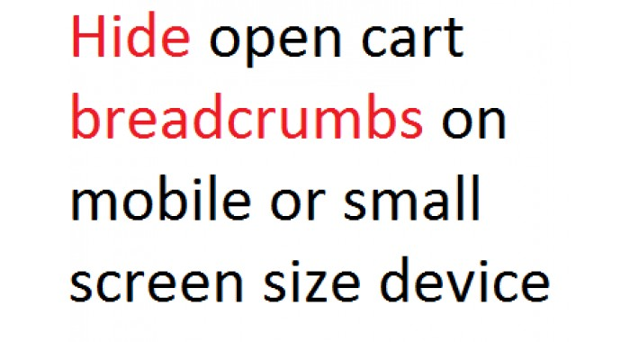 Hide breadcrumbs on mobile or small screen size device