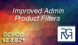 Improved Admin Product Filters