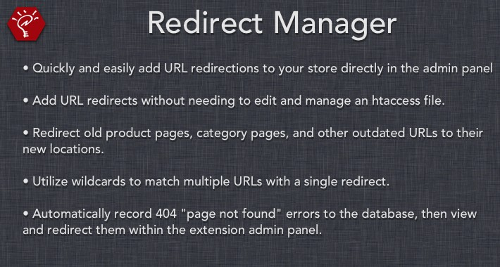 (2.x/3.x) Redirect Manager