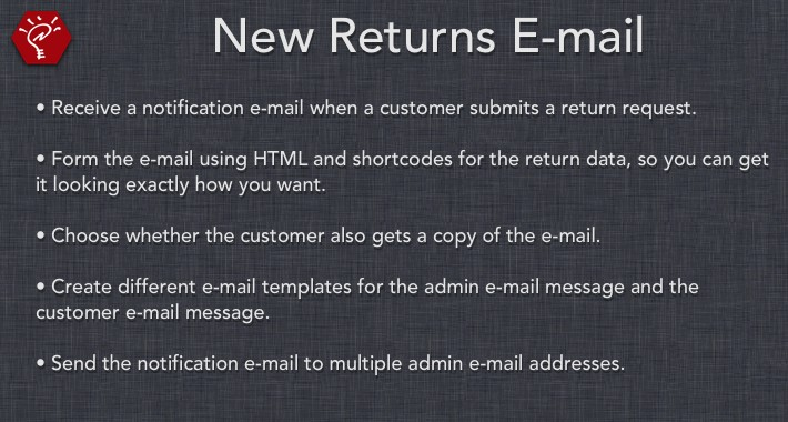 [OLD] New Returns E-mail