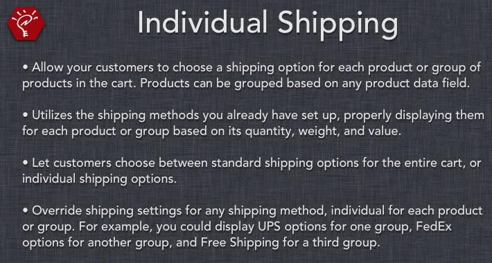 [OLD] Individual Shipping