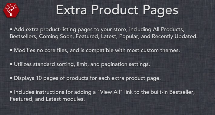 [OLD] Extra Product Pages