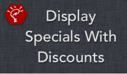 (2.x/3.x) Display Specials With Discounts