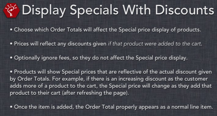 (2.x/3.x) Display Specials With Discounts