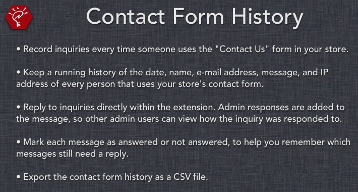 [OLD] Contact Form History