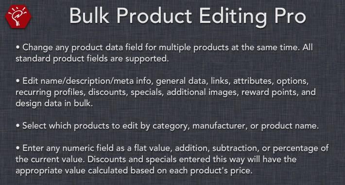(2.x/3.x) Bulk Product Editing Pro