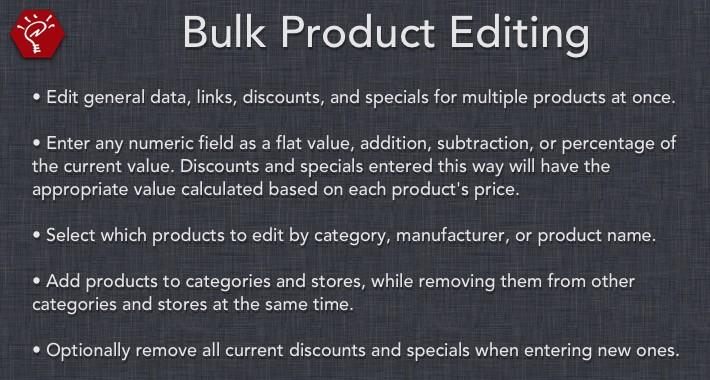 [OLD] Bulk Product Editing