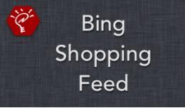 (2.x/3.x) Bing Shopping Feed
