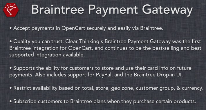 [OLD] Braintree Payment Gateway