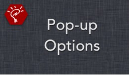 [OLD] Pop-up Options