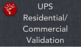 (2.x/3.x) UPS Residential/Commercial Validation