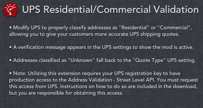[OLD] UPS Residential/Commercial Validation