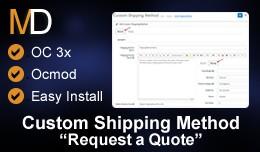 Custom Shipping Method OC 3x - Request a Shippin..