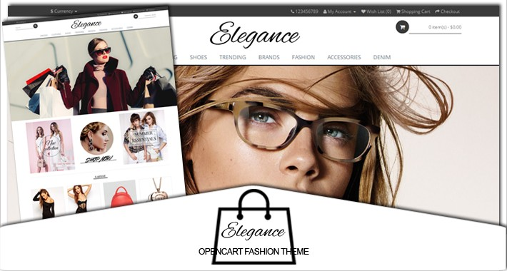 Elegance fashion responsive opencart 2.X theme