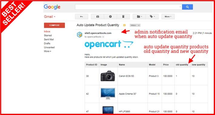 Auto Update Product Quantity