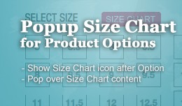 Size Chart Popup for Product