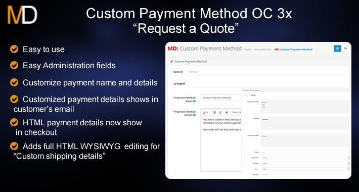 Custom Payment Method OC 3x - Request a Payment Quote