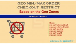 Geo Based Min/Max Order Total