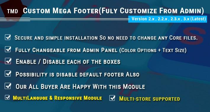 Mega Footer 3.x & 2.x.x