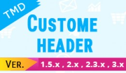 Custome opencart header menu free