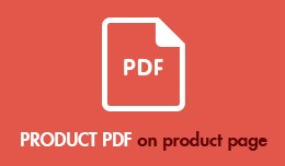 PRODUCT PDF on product page