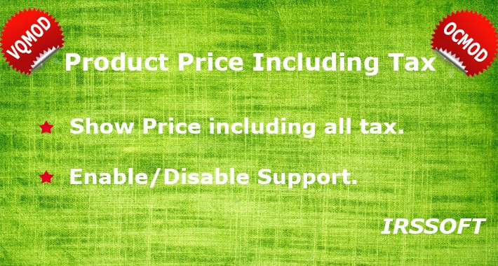 Product Price Including Tax