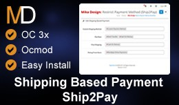 Shipping Based Payment - Ship2Pay OC 3x