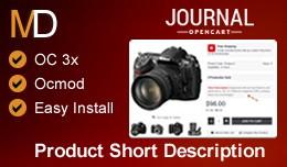 Product Short Description OC 3x - Journal 2 Theme