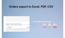 Orders export to Excel, PDF, CSV