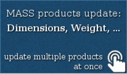 MASS products update: Dimensions (LxWxH), Weight..
