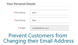 Prevent Customers from Changing their Email Addr..
