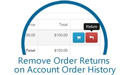 Remove Order Returns on Account Order History