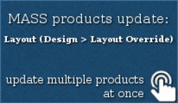 MASS products update: Design > Layout Override