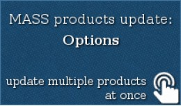 MASS products update: Options