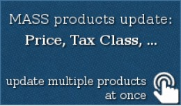 MASS products update: Price, Tax Class,+...