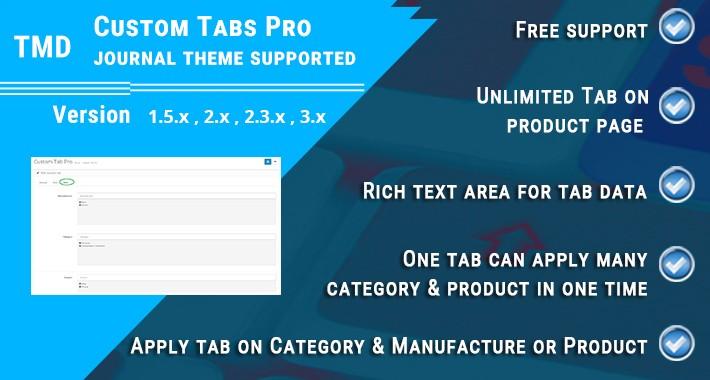 Custom Tabs Pro