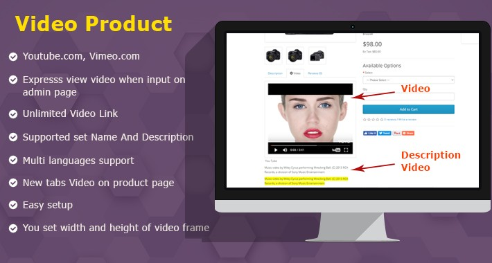 Video product tabs [supports Name & Description]
