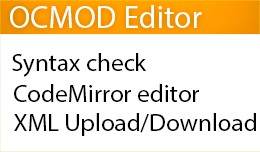 OCMOD Editor for OpenCart 2.x/3.x