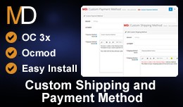 Custom Shipping and Payment Method OC 3x- Reques..