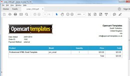 PDF Invoice - Attach Order Mail & Customer A..