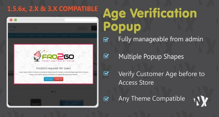(1.5.6x, 2x & 3x) Age Verification Popup
