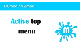 Active top menu