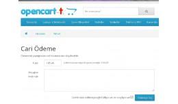 Opencart Cari Ödeme - Cari Tahsilat  (Tek sayfa..