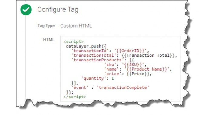Google Tag Manager E-commerce Tracking
