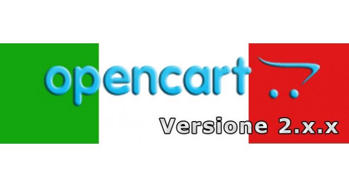Traduzione Italiana Open Cart 2.x.x.x